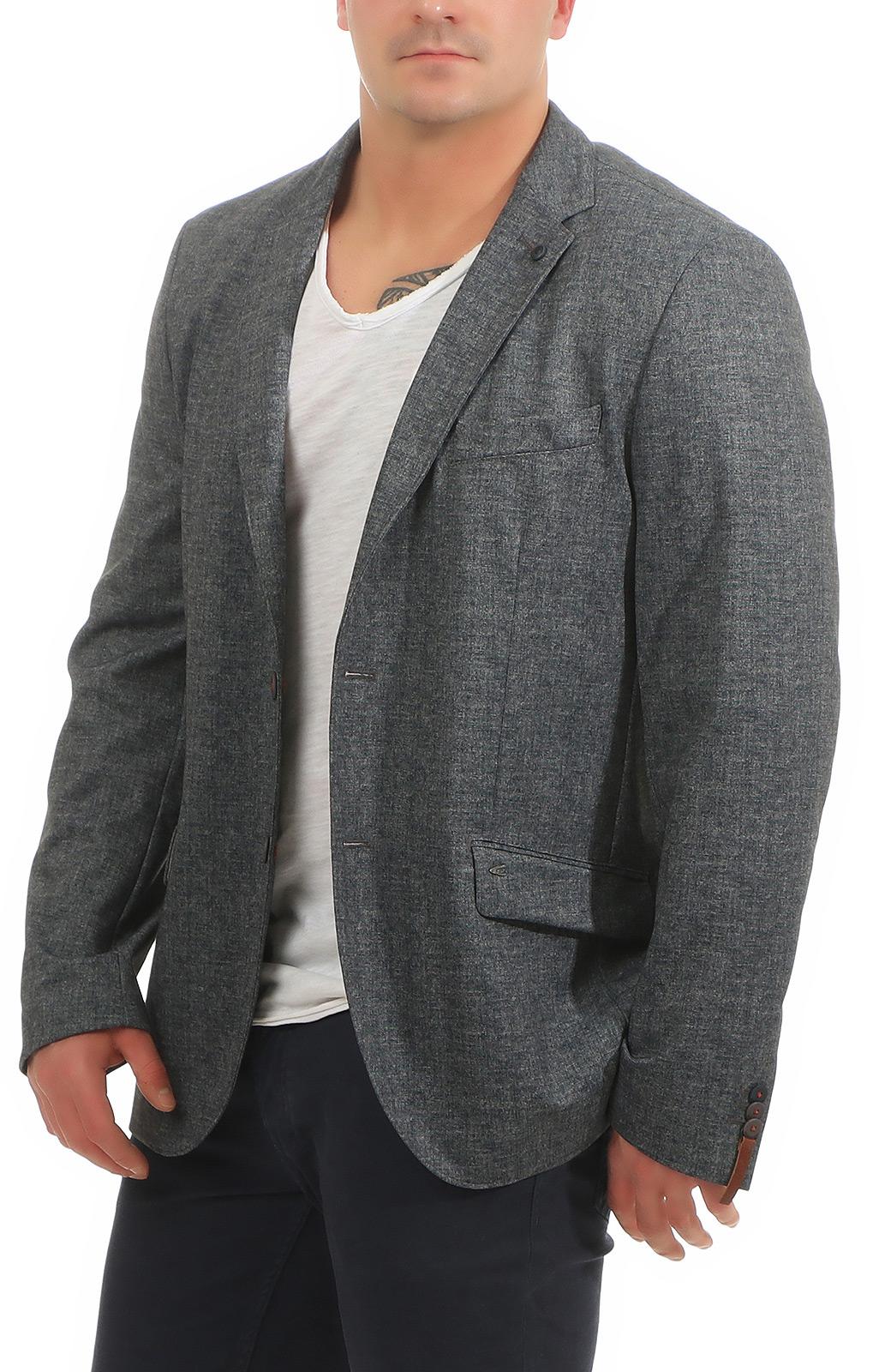 Camel Active Herren Sakko Unifarben Meliert Blazer Anzug 444125-7465