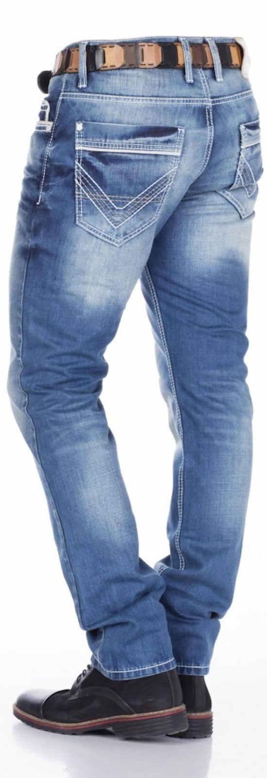 CIPO /& BAXX Herren Jeans CD184 NEU Hose Straight Cut Regular Gerades Bein Denim