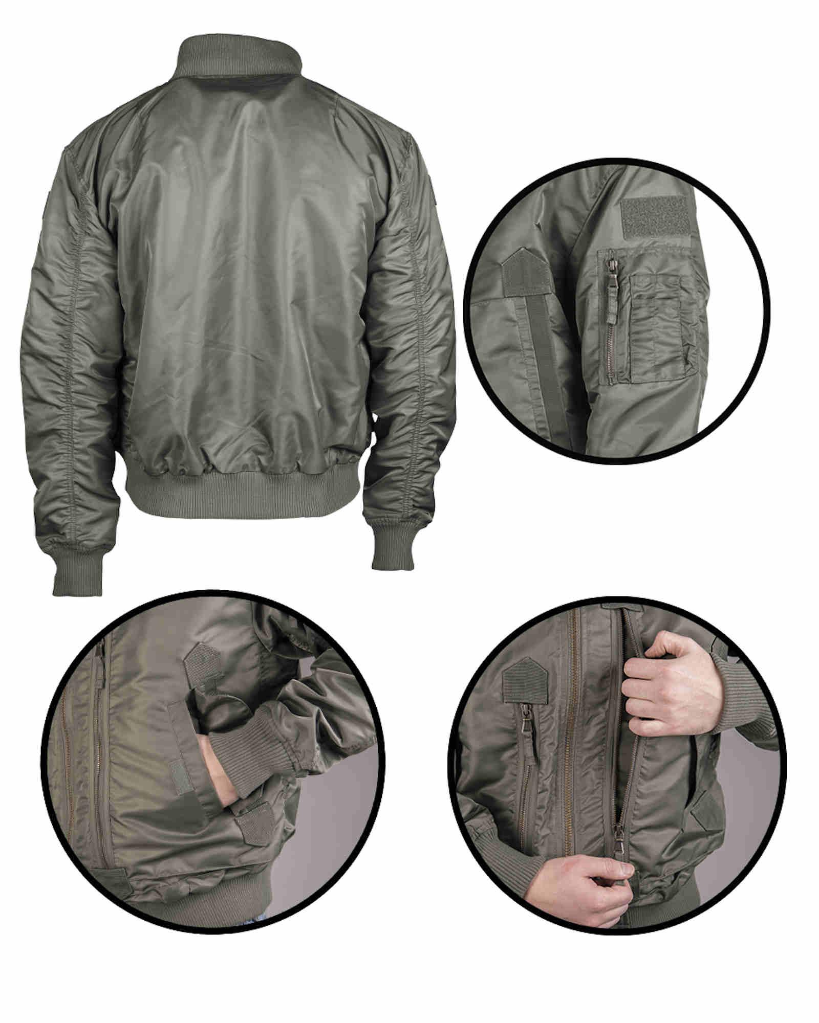 Mil-Tec US TACTICAL FLIEGERJACKE OLIV Outdoorjacke Jacke