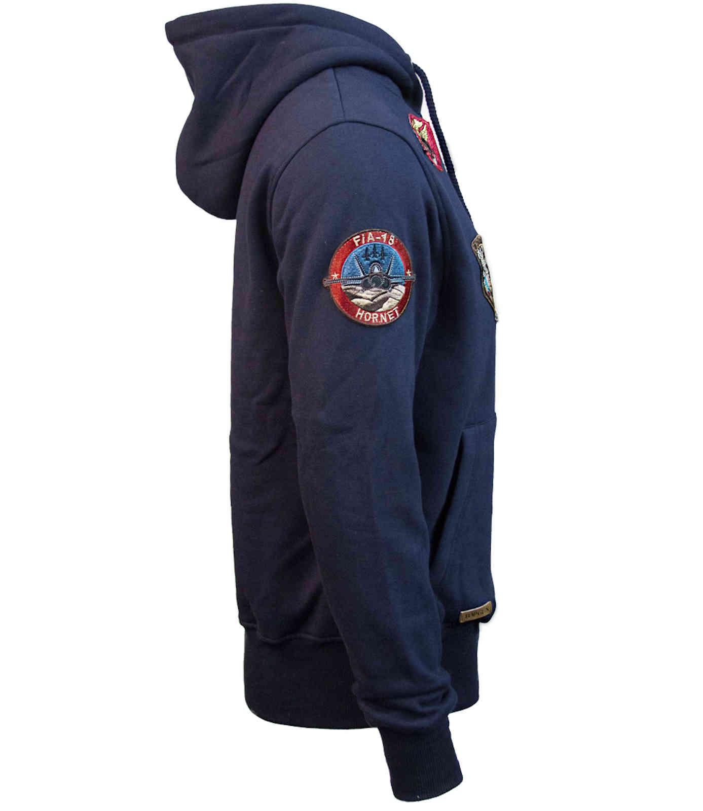 Top Gun Herren Zip Hoodie mit Reissverschluss Sweatjacket TGD 1707 Operation