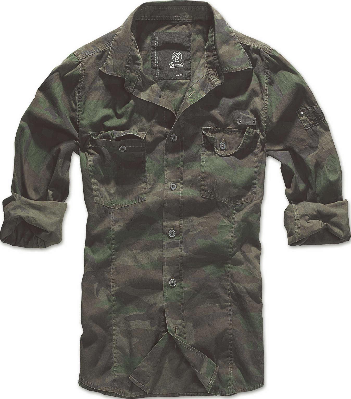 f927479c1156 BRANDIT SLIM FIT SHIRT Herren Hemd Men US Worker Vintage ...