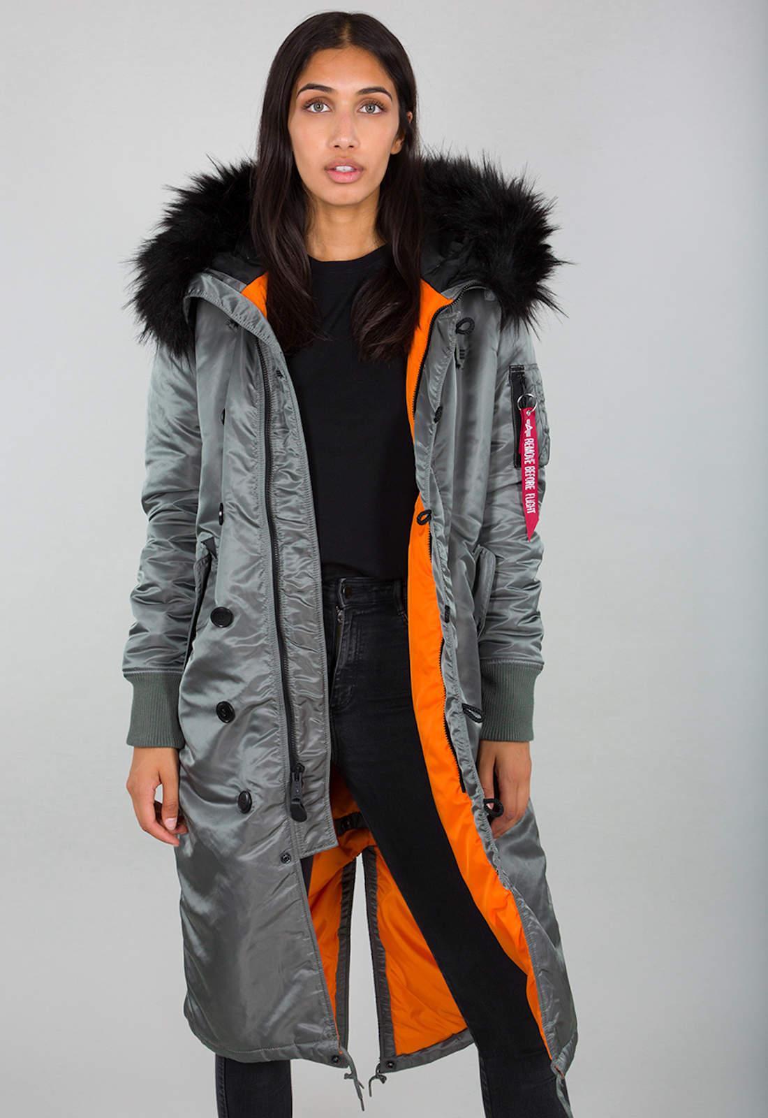 Details Long Industries About Winterjacke Coat Parka Mantel Alpha Fishtail Damen B3fl qVpzSUMG