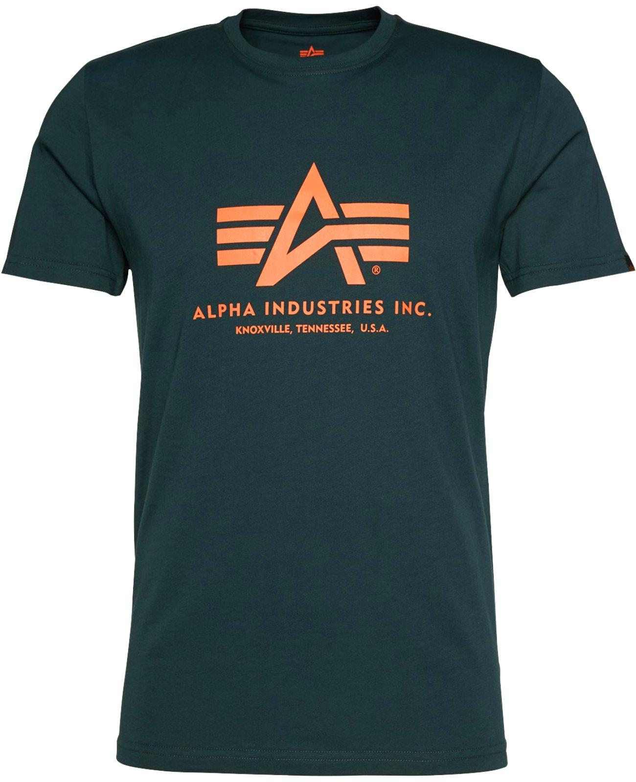 47fc15c90d91 Alpha Industries Herren Basic T-Shirt Shirt Neue Farben Sommer ...