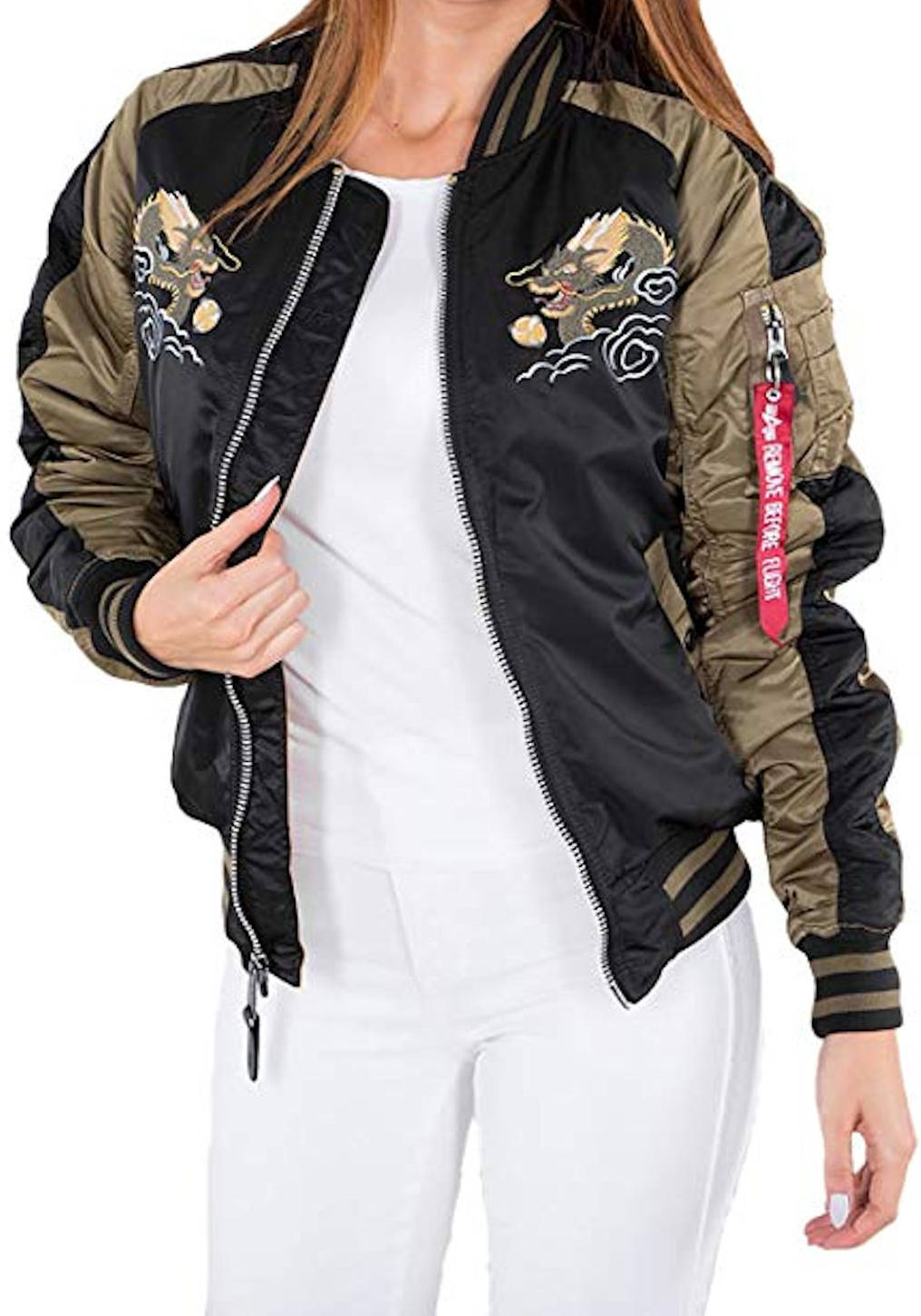 Details about Alpha Industries Japan Dragon Wmn Women's Bomber Jacket Aviator Jacket 178012 show original title