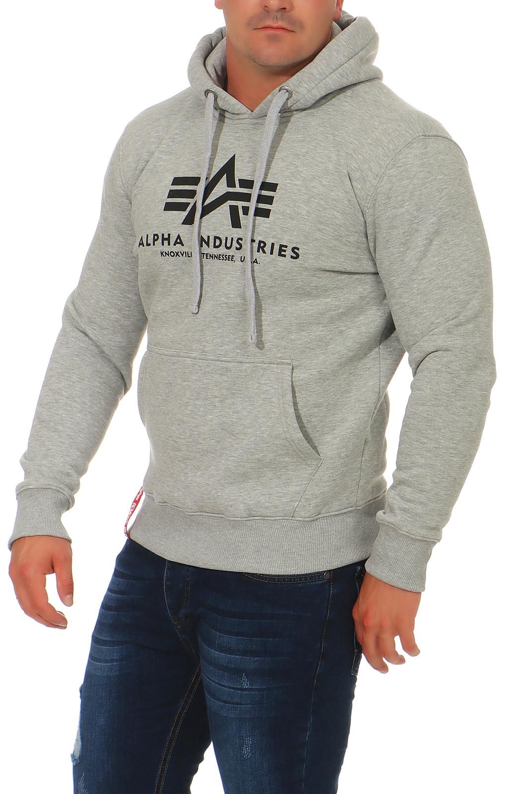 Alpha-Industries-Uomo-Hoody-Pullover-Basic-sweater-NUOVO-178312-hoodie-s-3xl miniatura 5
