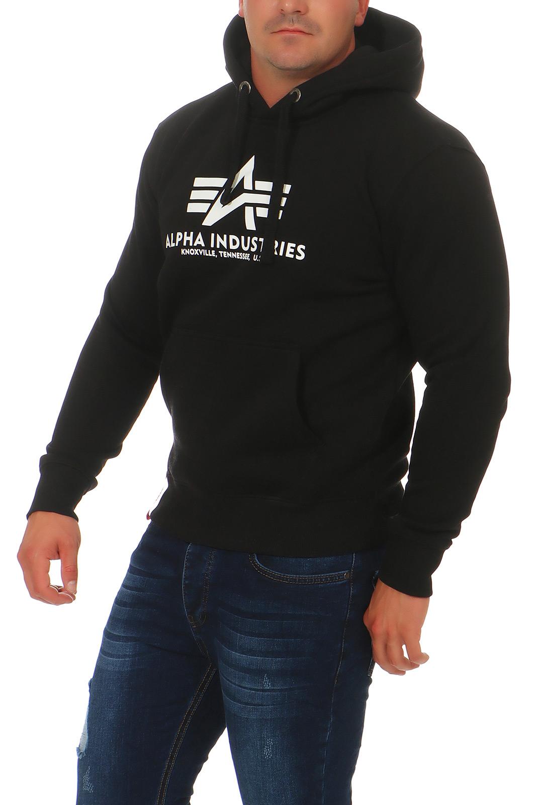 Alpha-Industries-Uomo-Hoody-Pullover-Basic-sweater-NUOVO-178312-hoodie-s-3xl miniatura 8