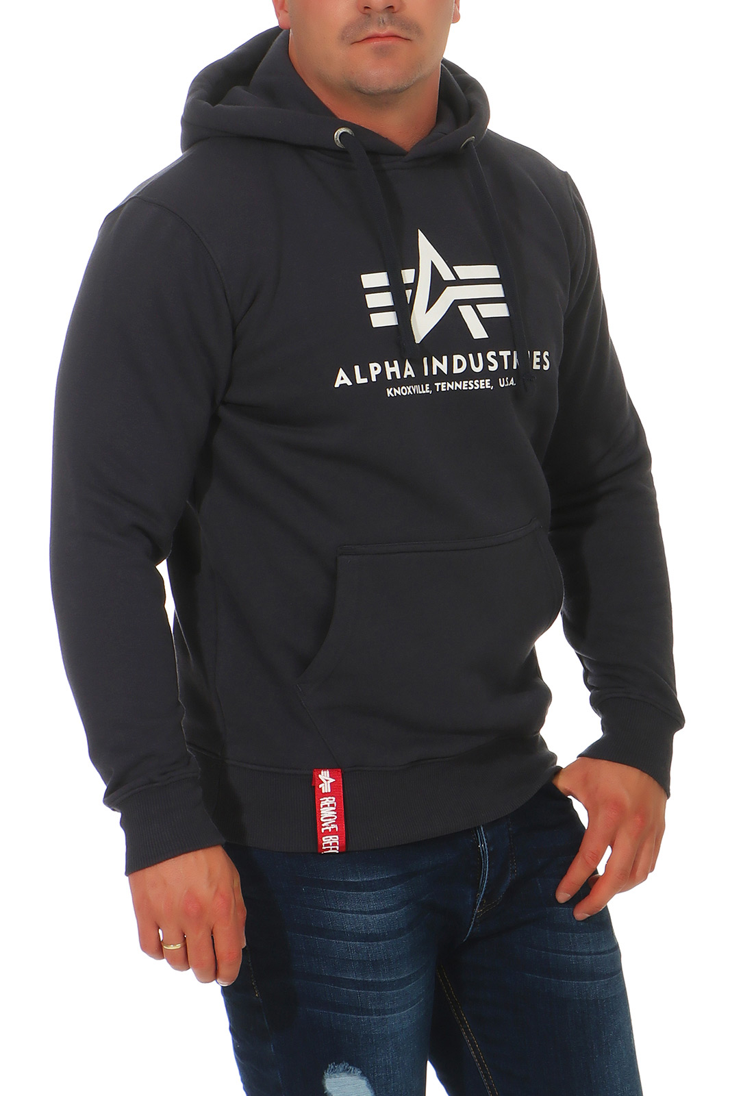 Alpha-Industries-Uomo-Hoody-Pullover-Basic-sweater-NUOVO-178312-hoodie-s-3xl miniatura 11