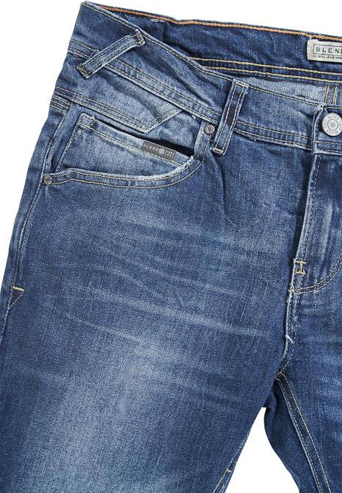 Mélange Neu 20701150 Bleu Jeans Herren Regular Tuyau Style Coupe Rock Moyen rvzgnUwxrR