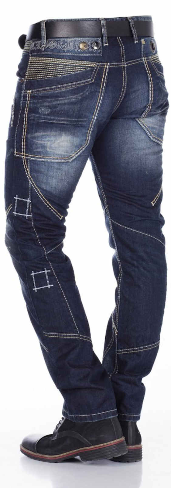 Cipo-amp-Baxx-Men-039-s-Jeans-c-1114-New-Trousers-Straight-Cut-Regular-Straight-Leg-Denim thumbnail 5
