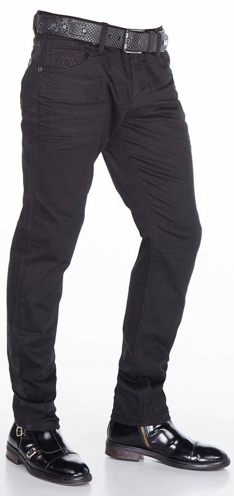 CIPO-amp-BAXX-Herren-Jeans-CD319A-NEU-Hose-Slim-Fit-Enges-Bein-Denim-Stretch