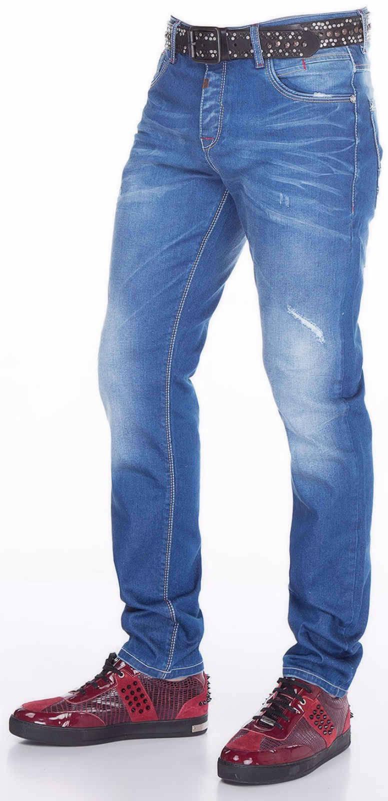CIPO-amp-BAXX-Herren-Jeans-CD386-NEU-Hose-Slim-Fit-Enges-Bein-Denim-Stretch Indexbild 3
