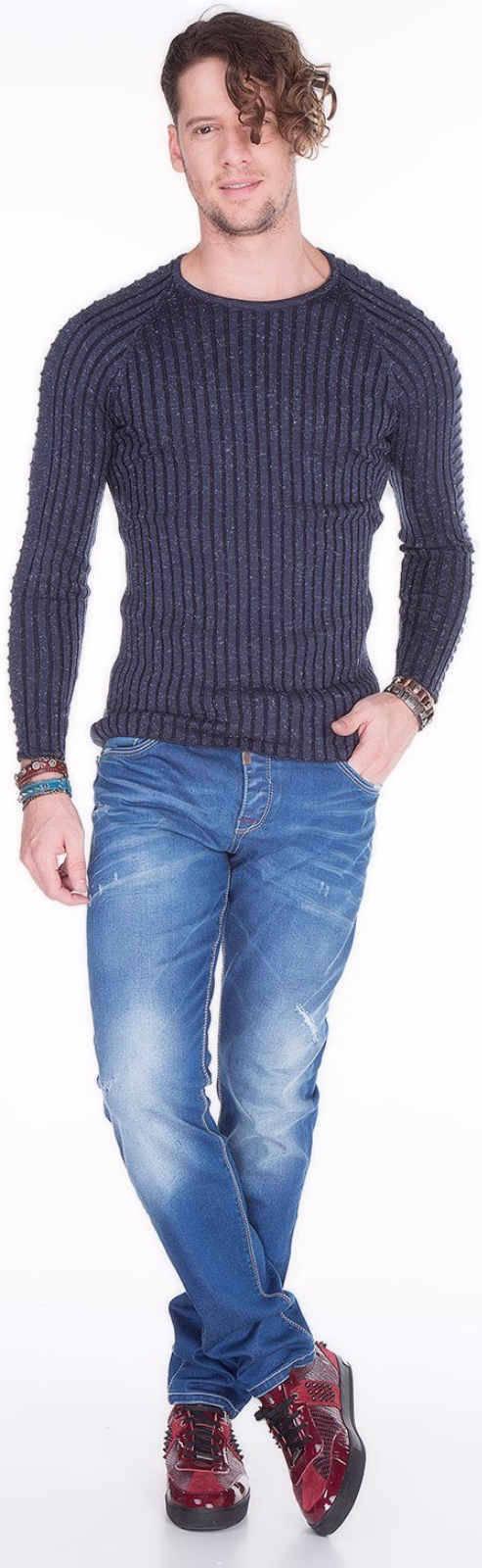 CIPO-amp-BAXX-Herren-Jeans-CD386-NEU-Hose-Slim-Fit-Enges-Bein-Denim-Stretch Indexbild 4