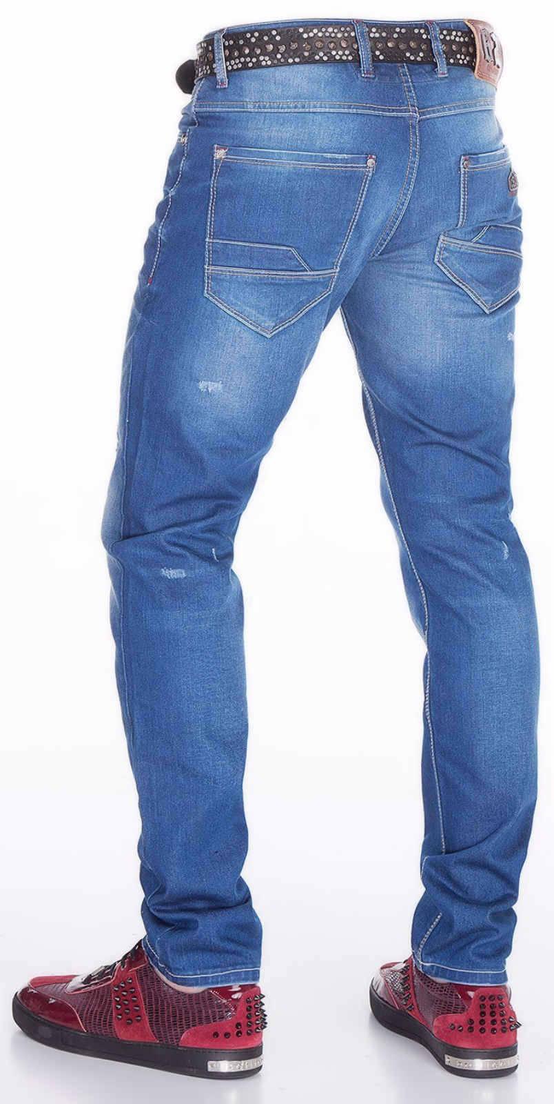 CIPO-amp-BAXX-Herren-Jeans-CD386-NEU-Hose-Slim-Fit-Enges-Bein-Denim-Stretch Indexbild 6