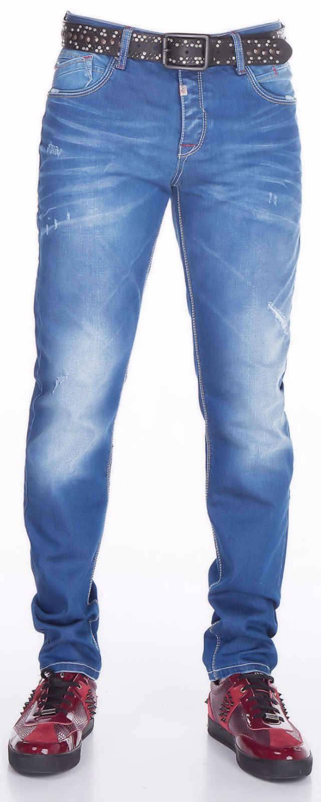 CIPO-amp-BAXX-Herren-Jeans-CD386-NEU-Hose-Slim-Fit-Enges-Bein-Denim-Stretch Indexbild 7
