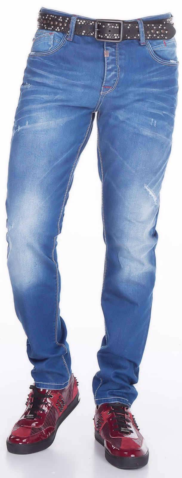 CIPO-amp-BAXX-Herren-Jeans-CD386-NEU-Hose-Slim-Fit-Enges-Bein-Denim-Stretch Indexbild 8