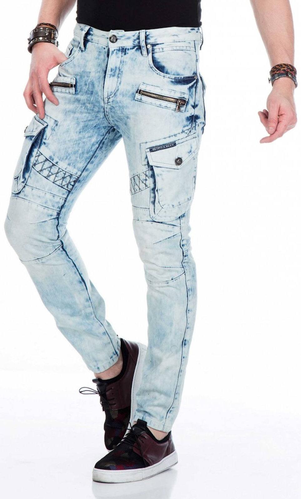 CIPO-amp-BAXX-Herren-Jeans-CD435-NEU-Hose-Slim-Fit-Enges-Bein-Denim Indexbild 3