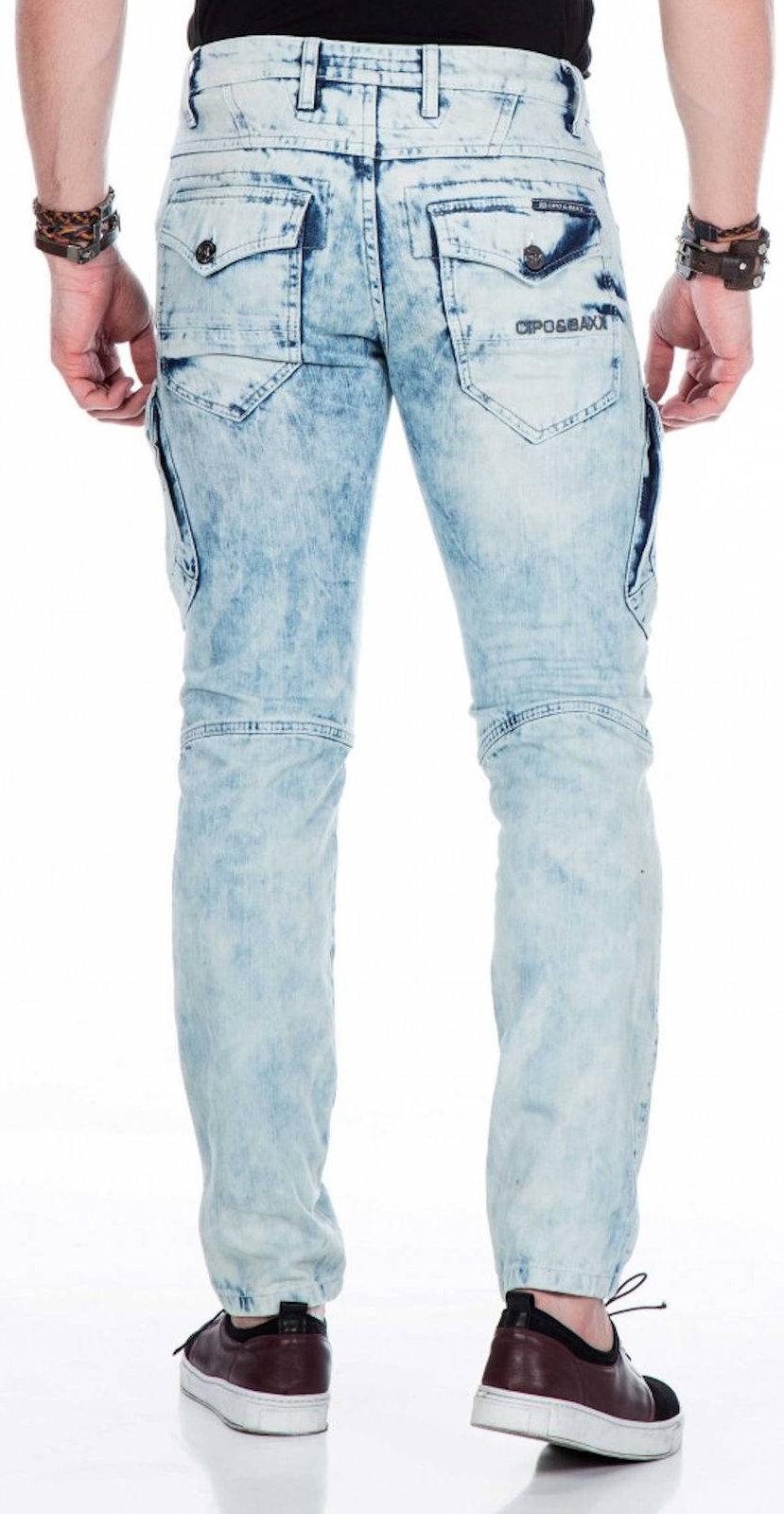 CIPO-amp-BAXX-Herren-Jeans-CD435-NEU-Hose-Slim-Fit-Enges-Bein-Denim Indexbild 4