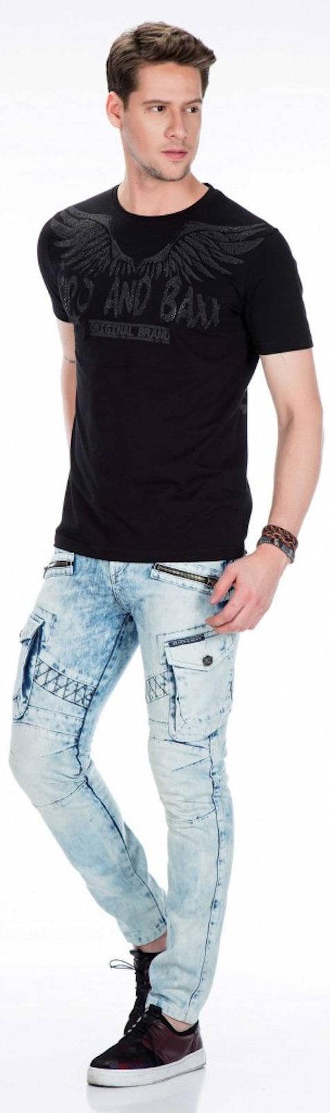 CIPO-amp-BAXX-Herren-Jeans-CD435-NEU-Hose-Slim-Fit-Enges-Bein-Denim Indexbild 5