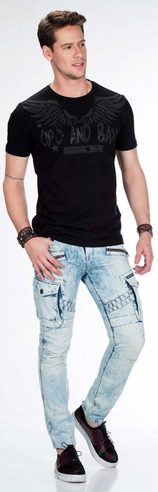 CIPO-amp-BAXX-Herren-Jeans-CD435-NEU-Hose-Slim-Fit-Enges-Bein-Denim Indexbild 6