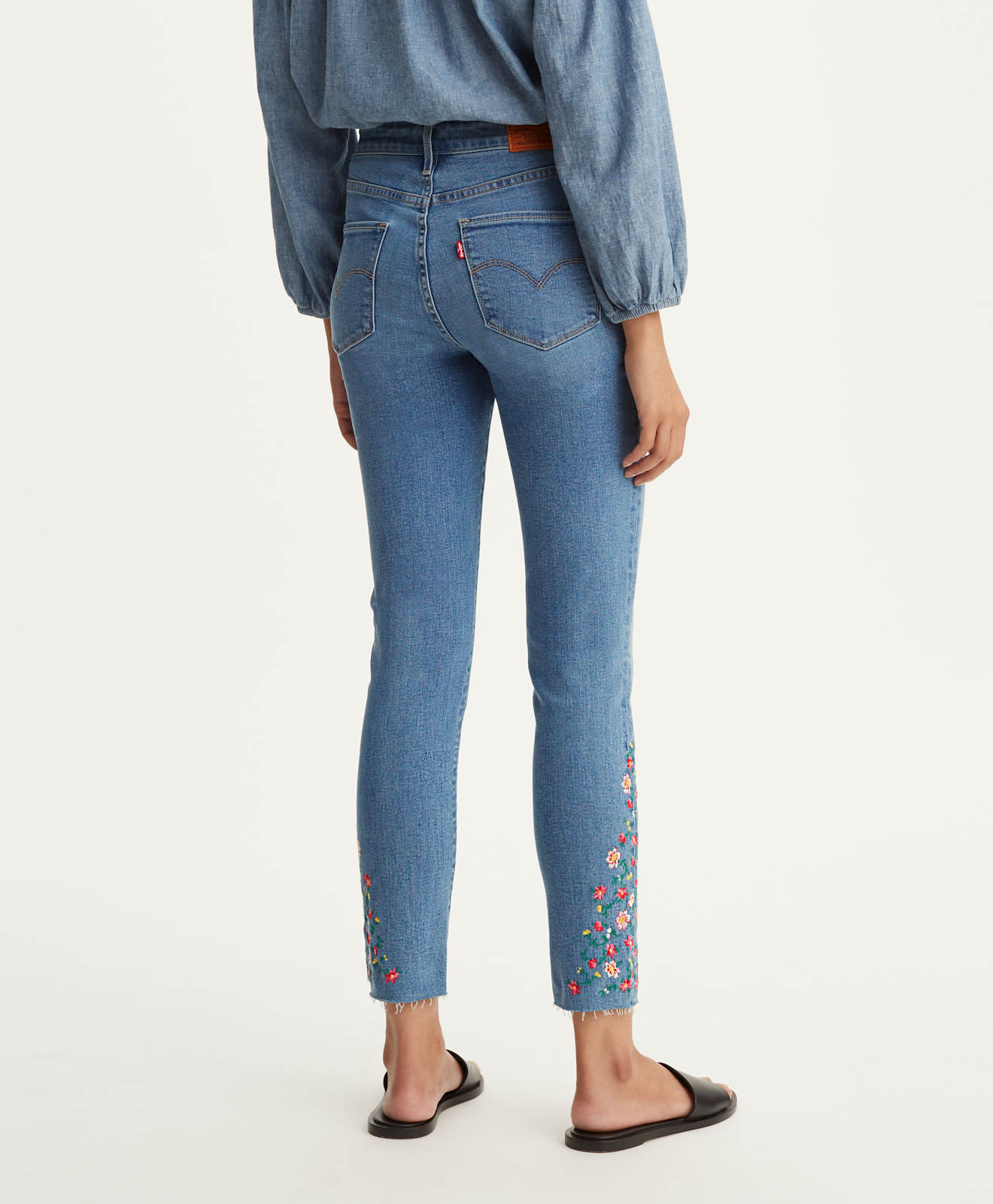 Jeans Cheville Neu Tout Haute Taille femme Aller Skinny Levi´s ® Original Tuyau dehors 721 8OqyEH