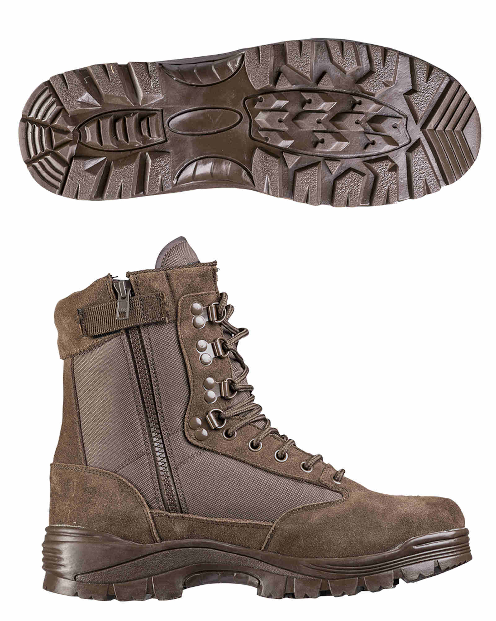 Mil-Tec TACTICAL BOOT M.YKK ZIPPER SCHWARZ Stiefel Schuhe