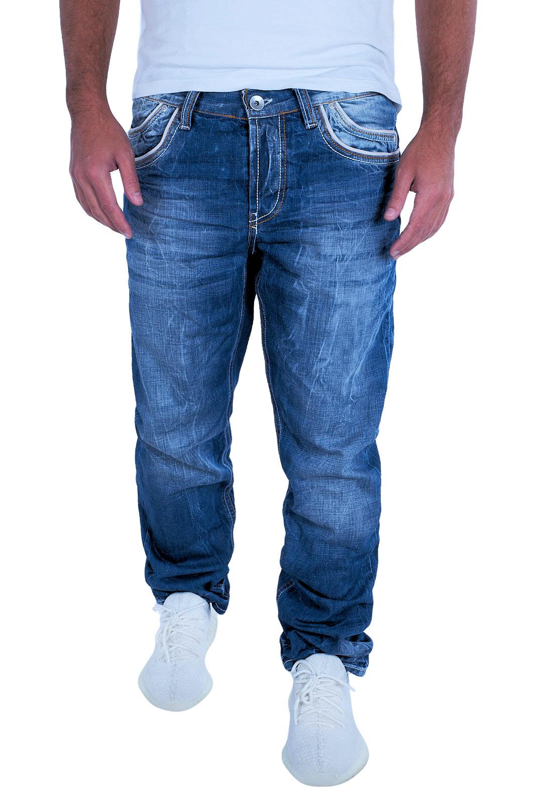 CIPO   BAXX Herren Jeans Clubwear Denim Hose C-0595 Straight Cut NEU ... a28adcd303