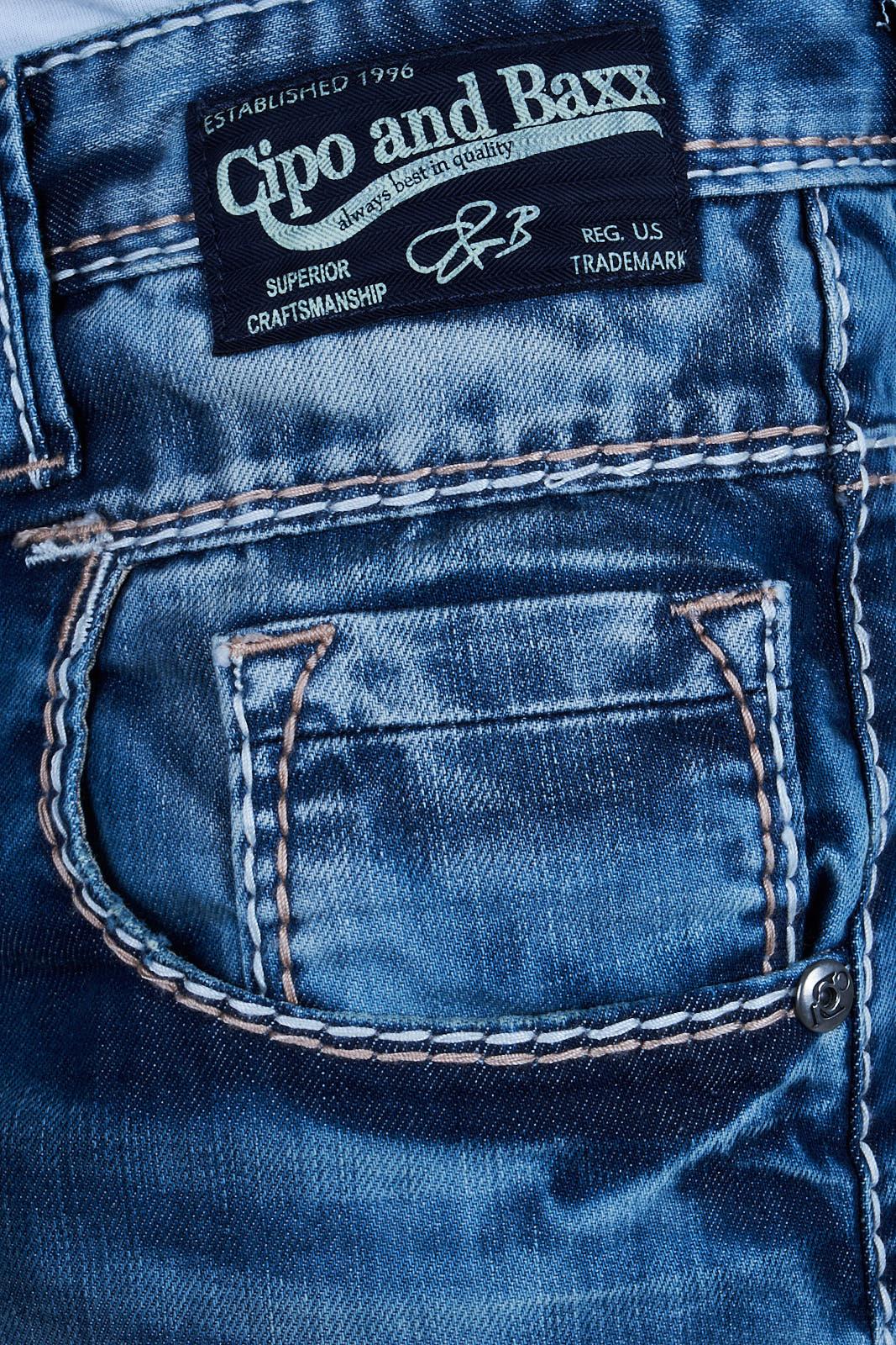 Cipo-amp-Baxx-Mens-Jeans-Clubwear-Denim-Trousers-c-1149-Straight-Thick-Seam-New-C-11 thumbnail 5