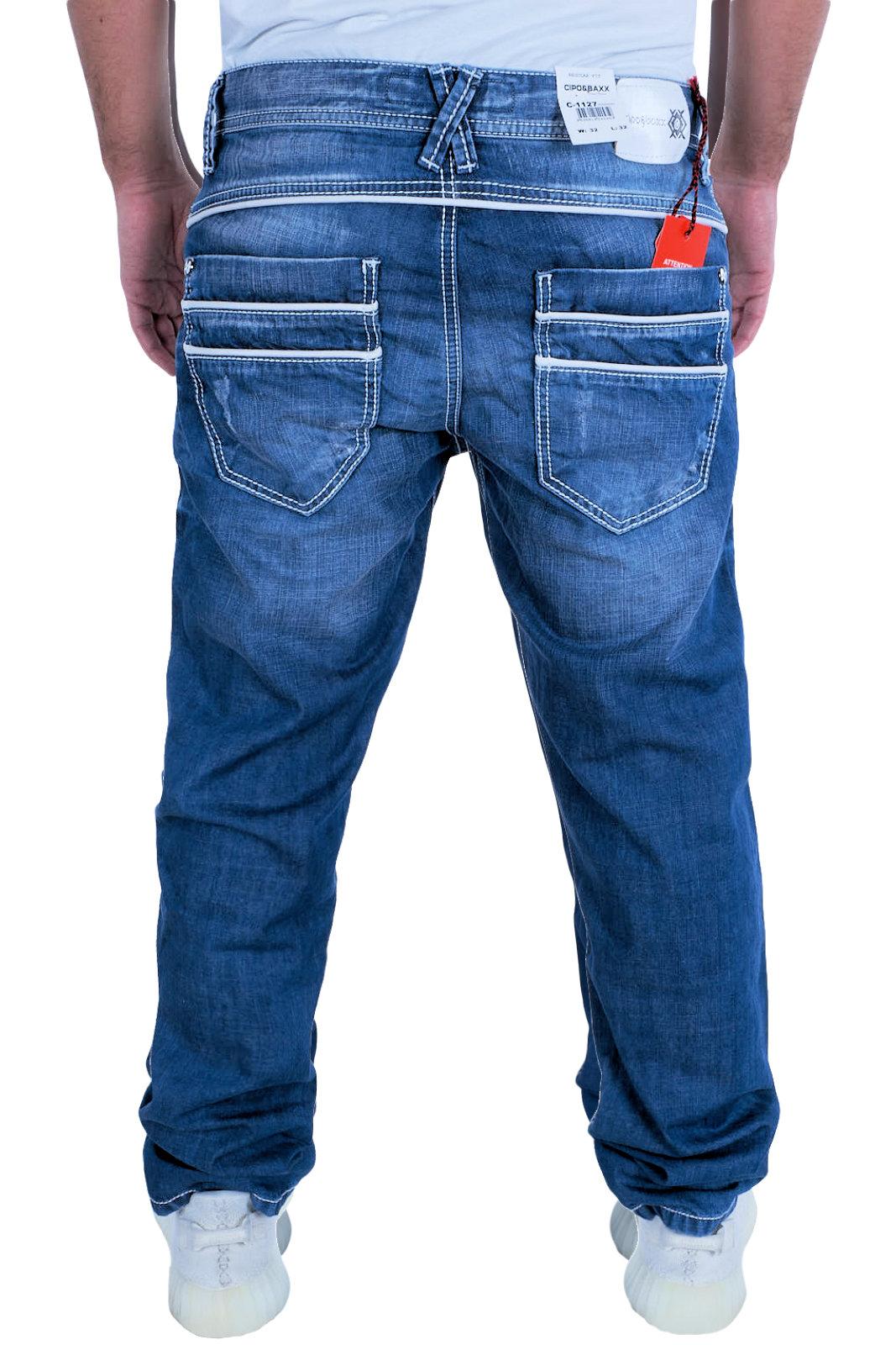 Cipo-amp-Baxx-Herren-Jeans-Clubwear-Denim-pantalones-c-1127-straight-best-seller-nuevo-C-11 miniatura 3