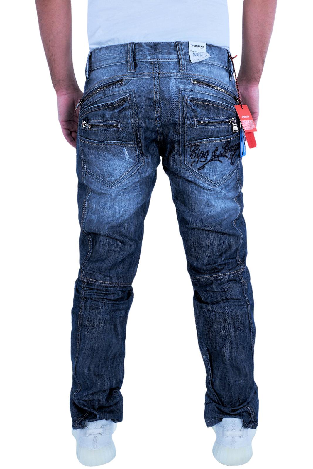 cipo baxx herren jeans clubwear denim hose c 0751 stone. Black Bedroom Furniture Sets. Home Design Ideas