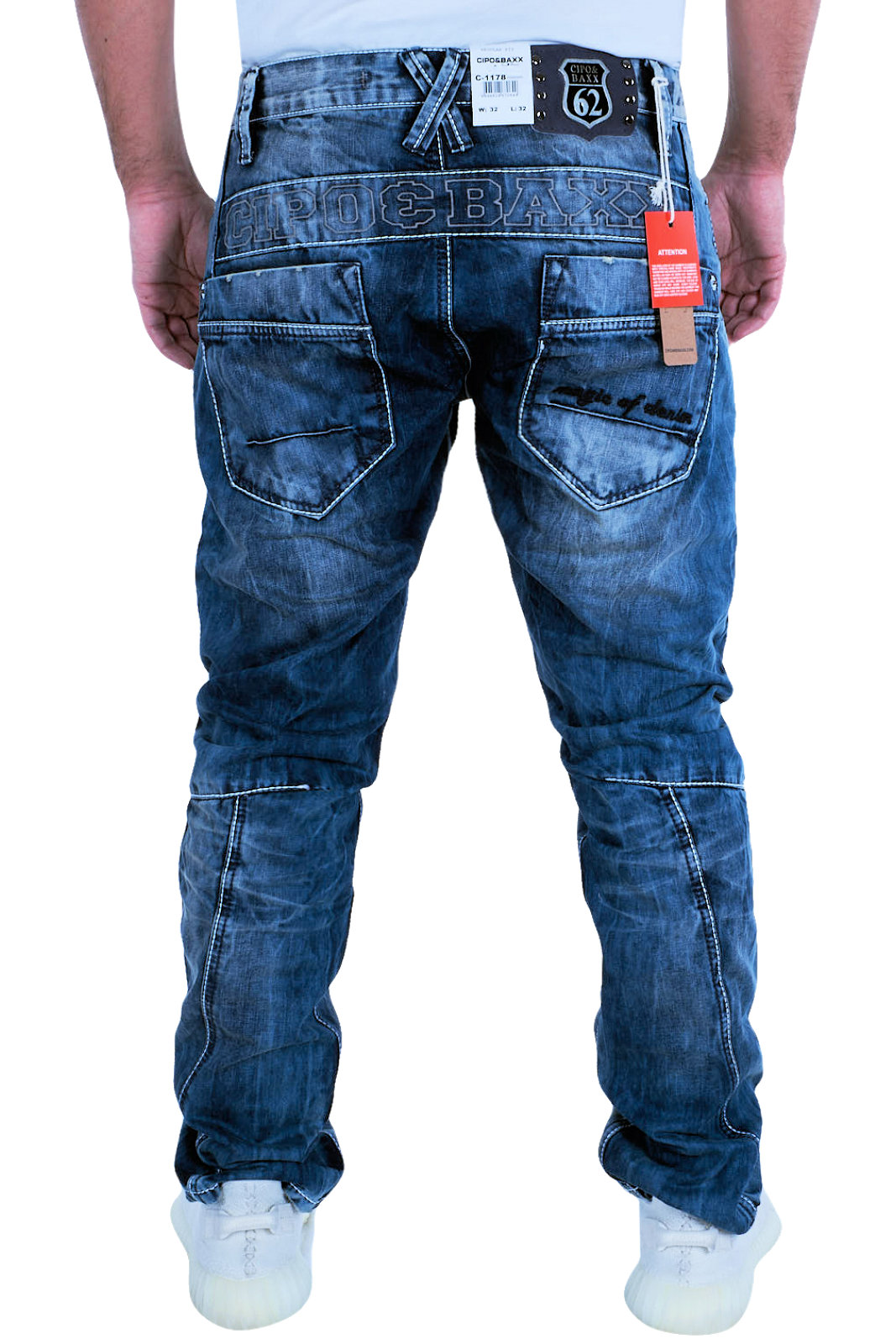Denim CipoBaxx Jeans 1178 Mode en C Pantacourt Pantalon Couture uOZiXPkT