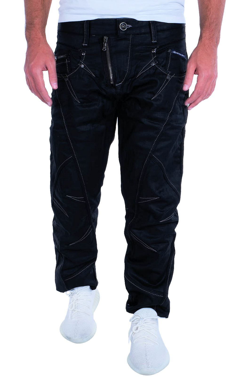 Nähte Jeans Clubwear Herren amp; Hose C 0812 Cipo C Dicke Denim Neu Bestseller Baxx Uwqvwxt