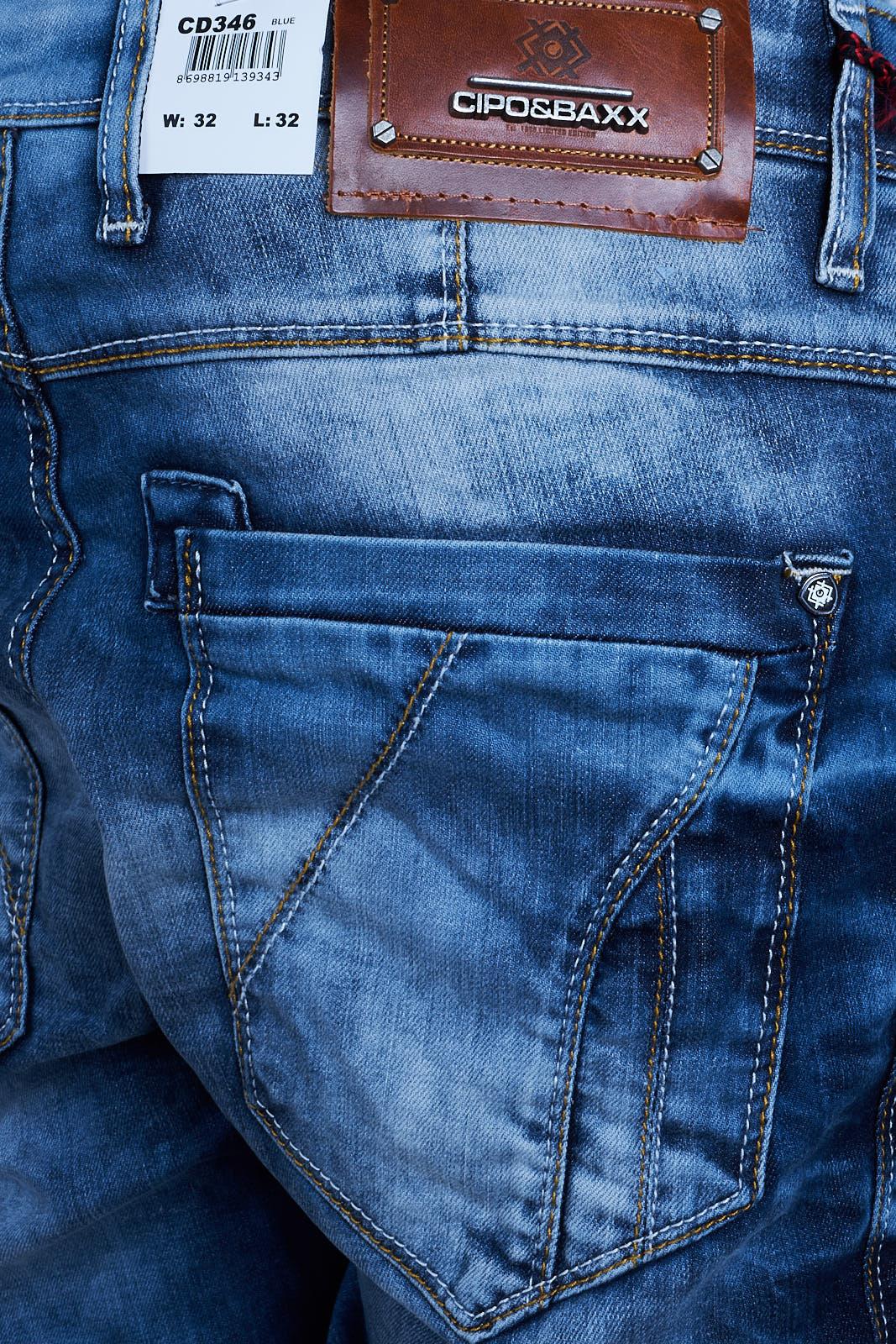 cipo baxx herren jeans clubwear denim hose cd346. Black Bedroom Furniture Sets. Home Design Ideas