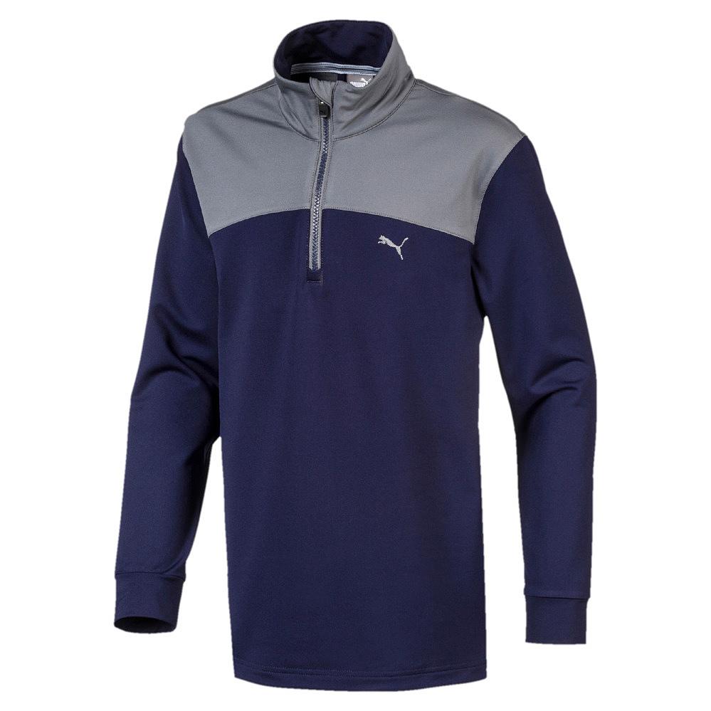 Puma-Kinder-Pullover-Sweat-Sweatshirt-Pullover-Colorblock-1-4-Zip-Jr