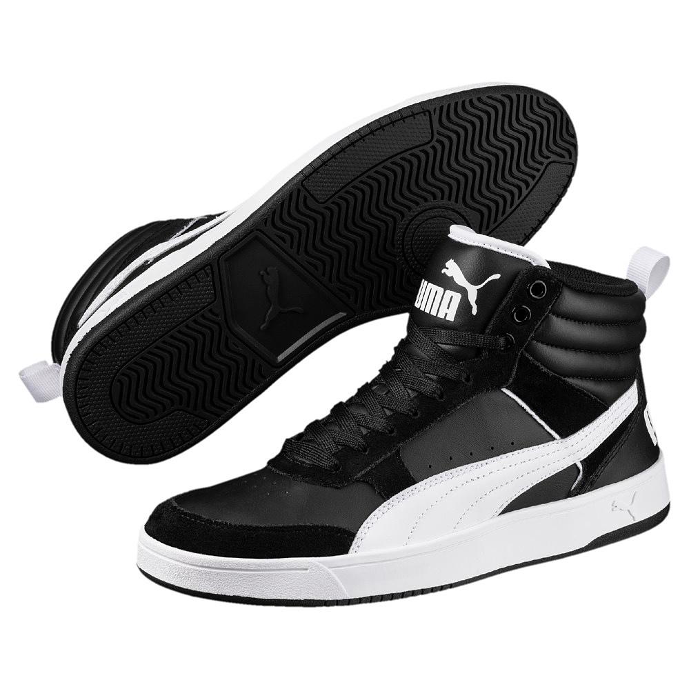 PUMA REBOUND STREET High Top Sneaker 363716 Schwarz 01 Herrenschuhe Fashion Neu