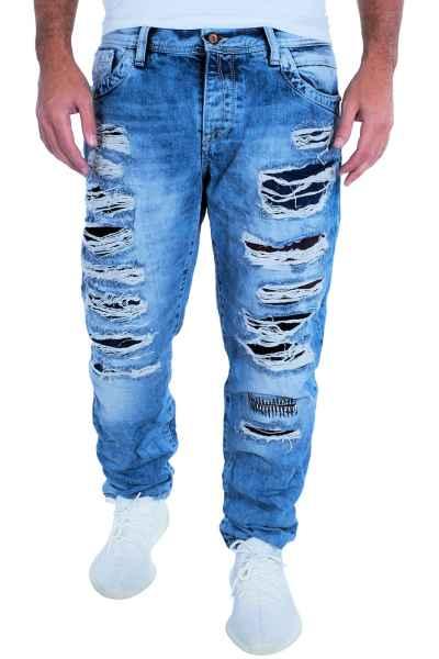 CIPO & BAXX Herren Jeans Clubwear Denim Hose CD131 Destroyed Premium Designer CD131