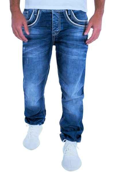 CIPO & BAXX Herren Jeans Clubwear Denim Hose C-1127 Straight Bestseller NEU C 1127