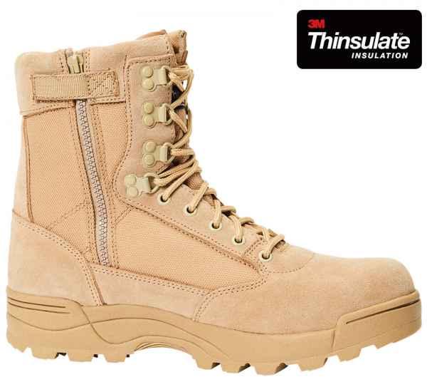 Brandit ZIPPER Tactical Boot 9017 Taktische Militärische Side Zip Stiefel Wildleder Leder