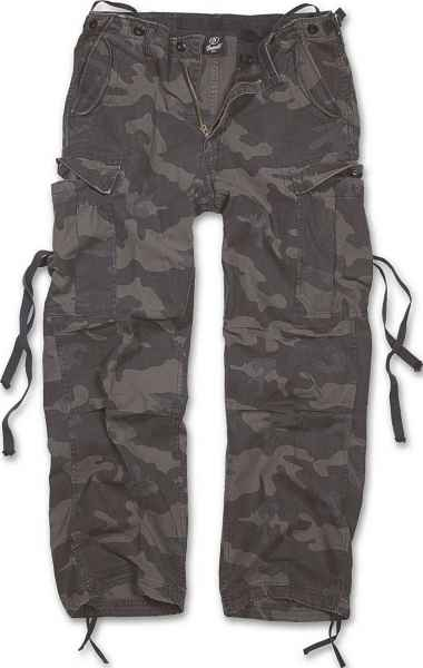 BRANDIT Herren Cargo Hose 1001 M65 Vintage Trouser Army Pants Outdoor Pure NEU 1001