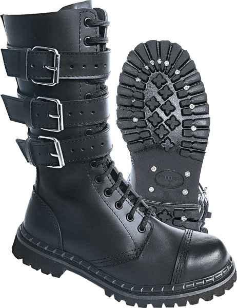 Brandit Phantom Boots Buckle 9005 Gothic Stiefel Rangers Army Boots Springerstiefel