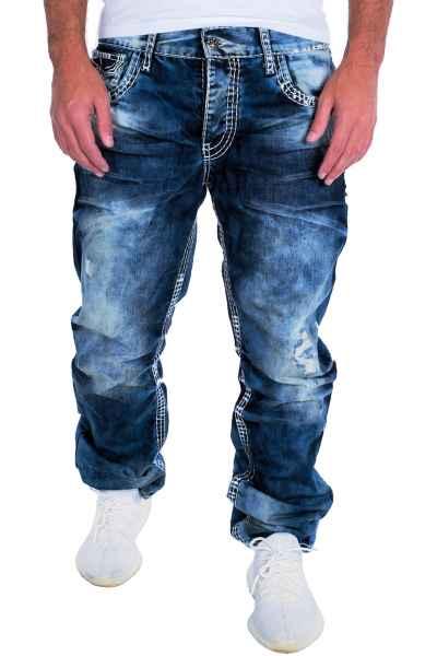CIPO & BAXX Herren Jeans Clubwear Denim Hose CD149 Straight Dicke Naht Vintage CD149