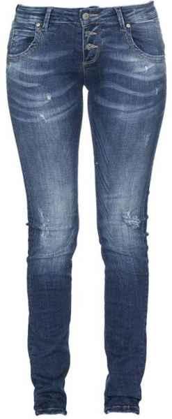 M.O.D Damen Jeans Ulla Slim NOS-2020 Hüft Hose Low Waist Slim Leg MOD Trev Blue