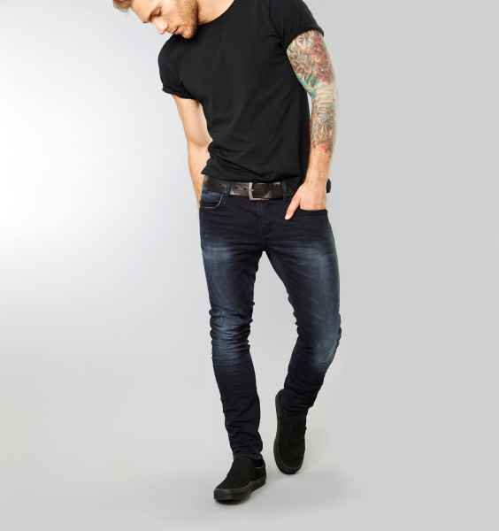 BLEND Herren Cirrus Jeans Hose Middle Black Blue Denim Skinny Fit Stretch NEU 701711