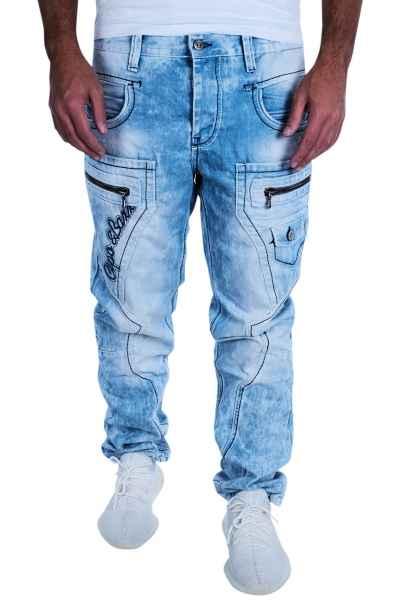 CIPO & BAXX Herren Jeans Clubwear Denim Hose CD272 Hellblau Straight Trend NEU CD272